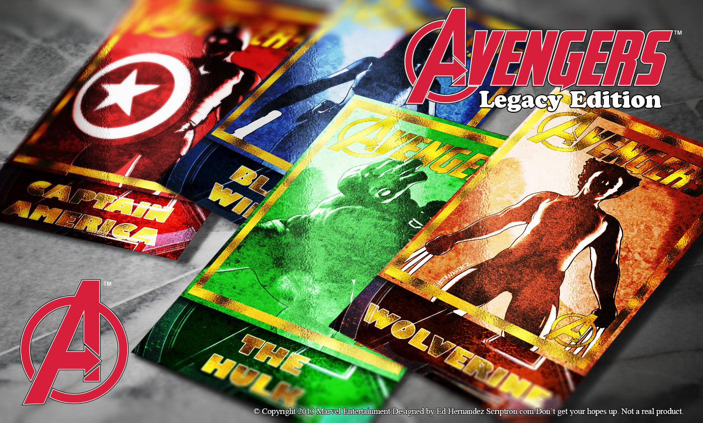 Avengers Trading Cards Set 1