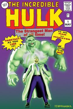 The Incredible Hulk Retro Cover