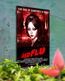 The Red Flu Poster Mockup #2