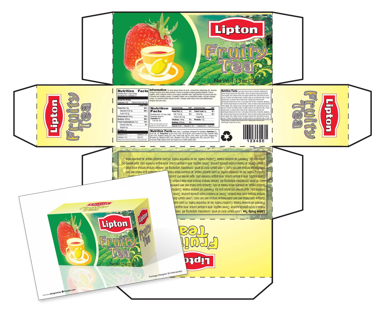 Lipton Tea Package Idea