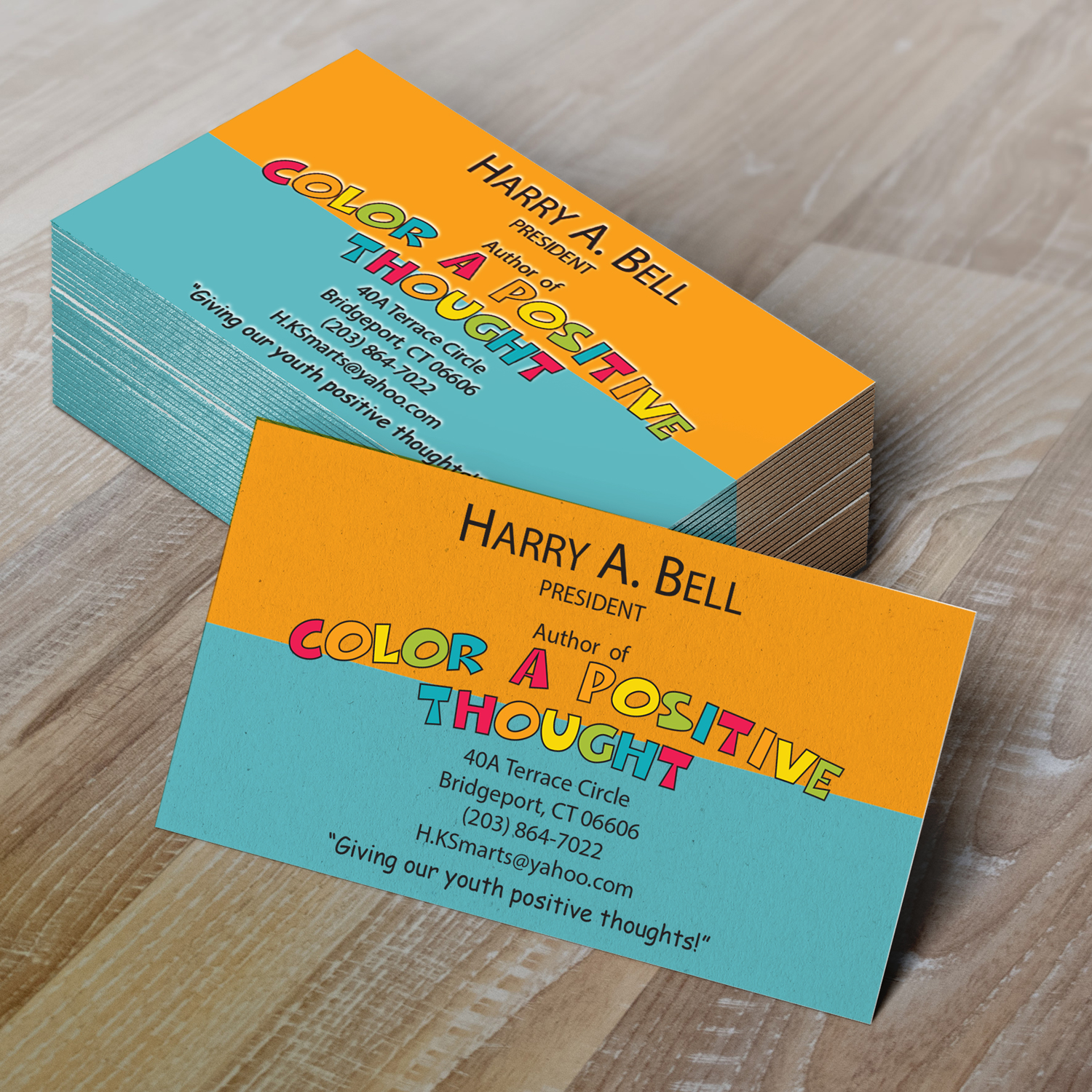 Color a Positive Thought Business Cards