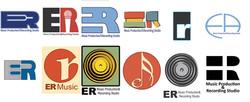 E.R. Music Production Logo Ideas