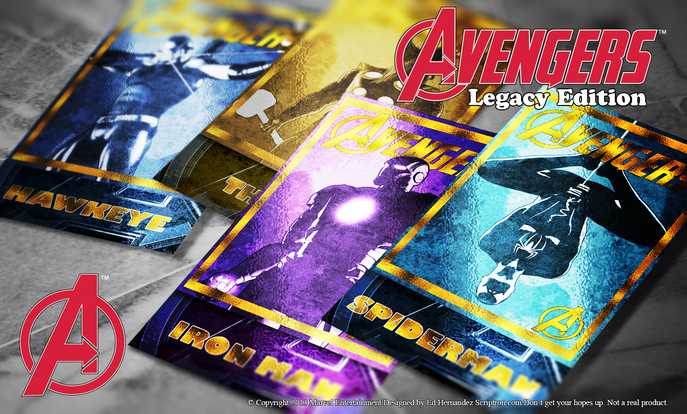 Avengers Trading Cards Set 2