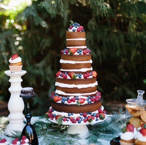 PASTEL DE BODA NAKED CAKE