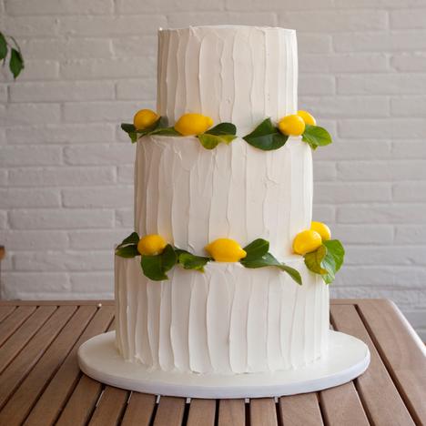 Pastel de boda de limon y nata