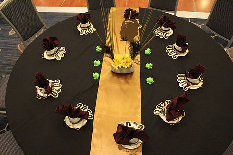 Potentates Ball Table Setting