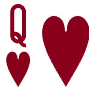 Queen of Hearts Game Ticket