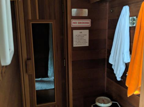 Downstairs Courtyard Sauna (w/ Attached Bath)