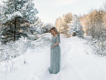 Gravidfotografering i snön