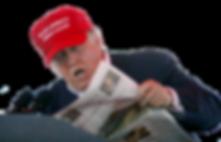 trump reading a paper