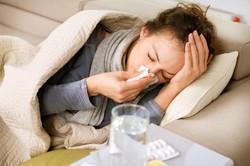שפעת, הצטננות, כאבים, דלקת ריאות