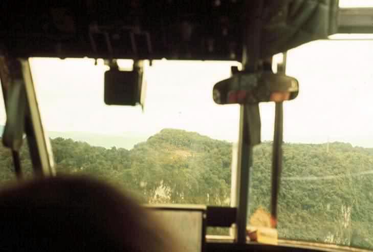 Approaching the TACAN drop zone