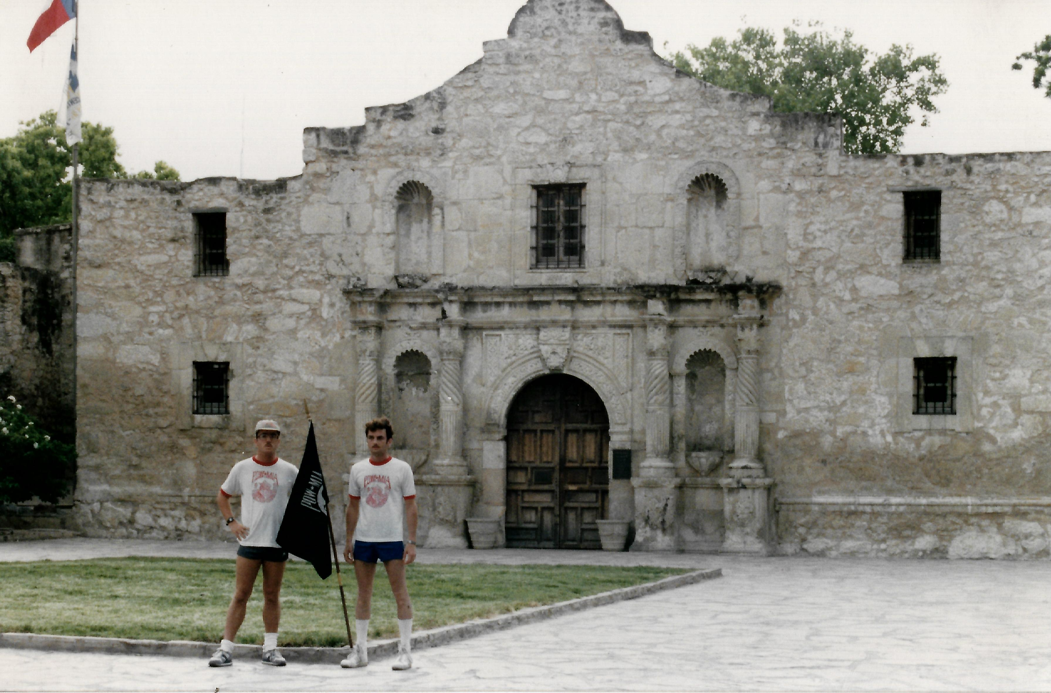In front of Alamo
