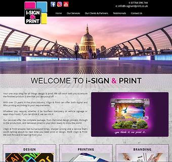 i-Sign & Print Website