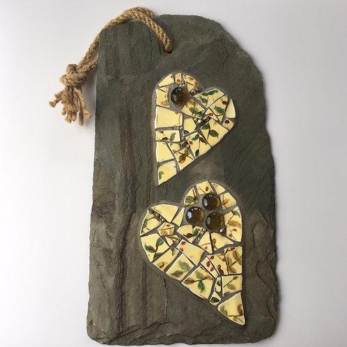 Mosaic on slate