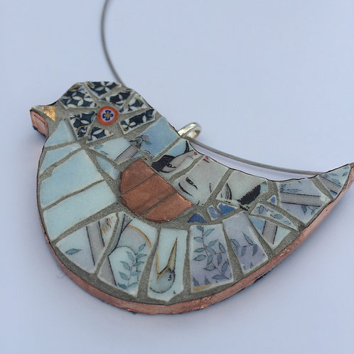 Mosaic Bird Necklace
