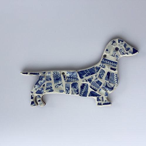 Mosaic Sausage Dog