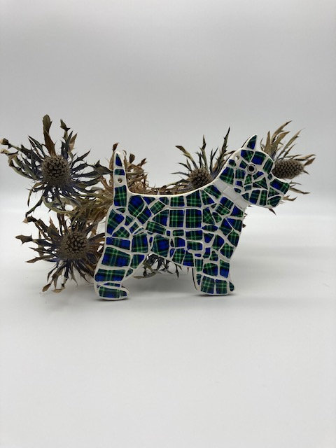 Mosaic Scottie Dog