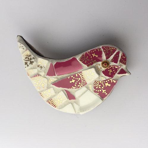 Mosaic Bird Brooch