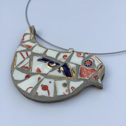 Mosaic Bird Necklace