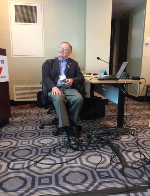 Stan Barauskas representing Alf with  at ISDC