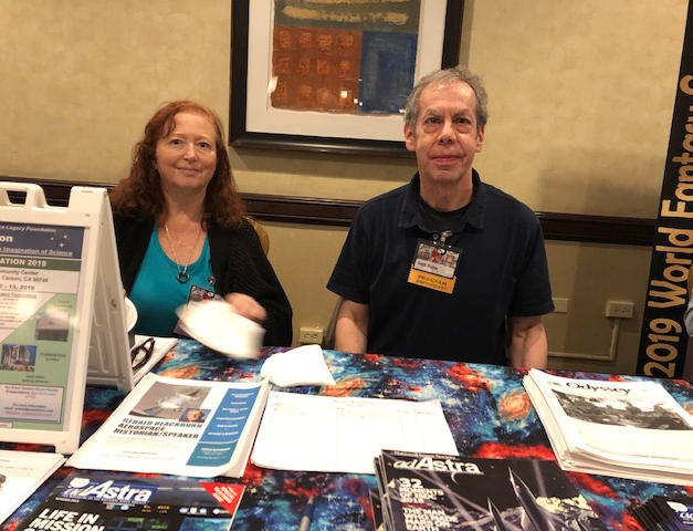 Arlene Busby & Seth Potter sharing a fan