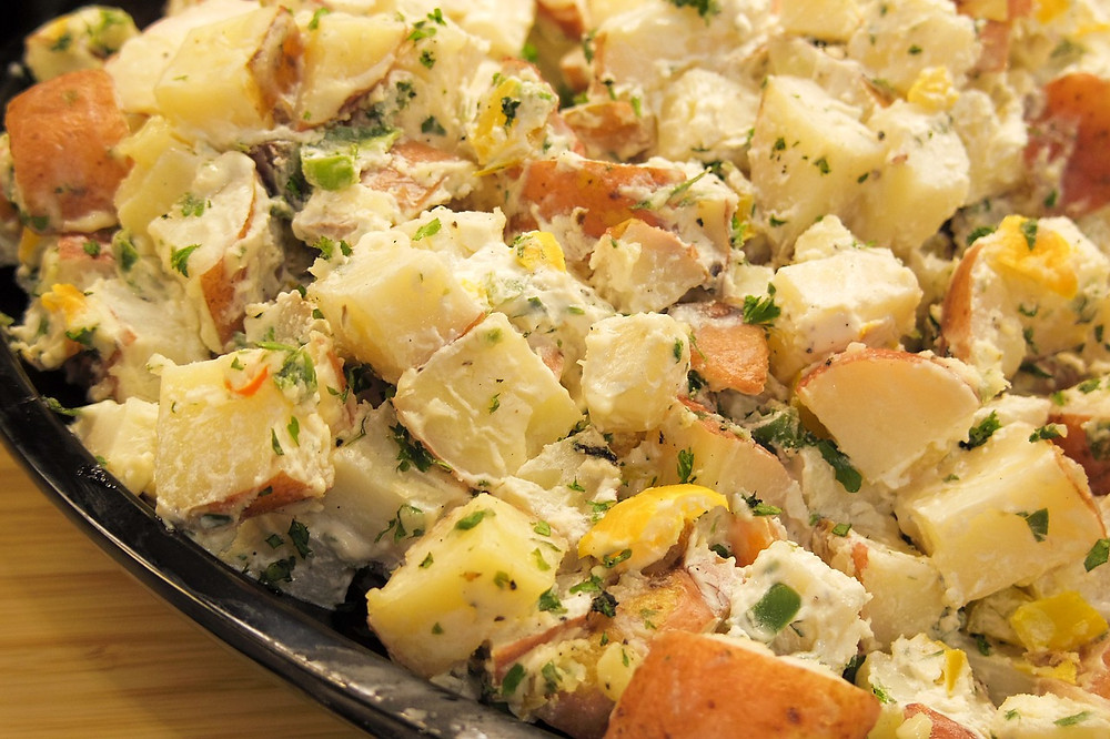 Tasty Potato Salad to Cook With Kids and that kids will love to eat