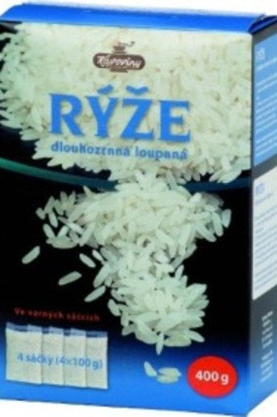 Rýže dlouhozrná varné sáčky 400g Kávoviny a.s.