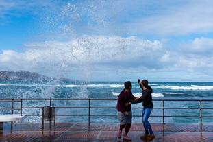 Temporal marítimo en Canarias