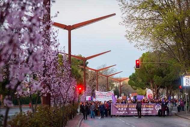 Manifestación en Guadalajara durante la jornada de huelga feminista el 8 de marzo de 2019