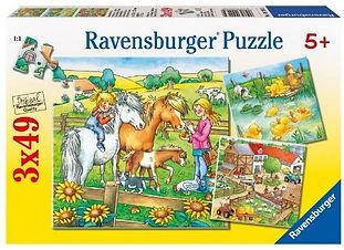 4 puzzles de 25 et 36 morceaux