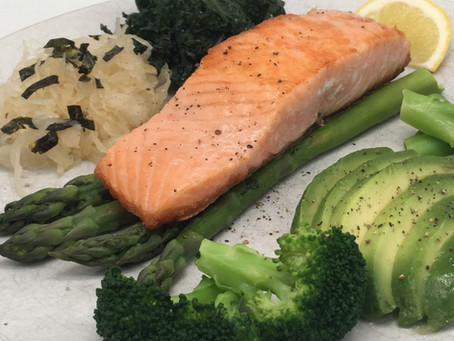Wild Alaskan salmon and Steamed Green Vegetables