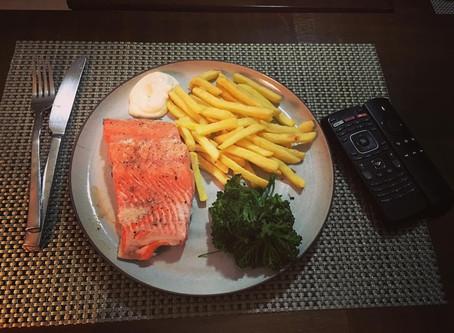 Salmon TV Dinner
