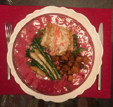 Crab and Shrimp Crusted Salmon