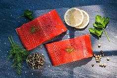 wild Alaskan Copper River salmon