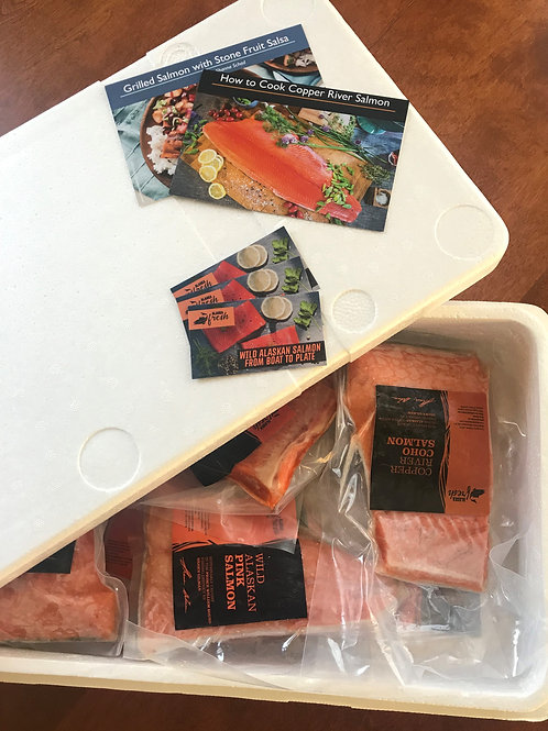 Copper River Sockeye and Prince William Sound Pink Salmon Box