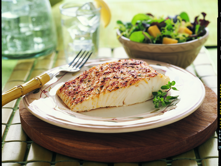 Fast and spicy wild Alaskan halibut