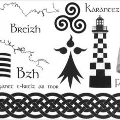 12 TATOUAGES ÉPHÉMÈRES - Motifs Celtes et Bretons
