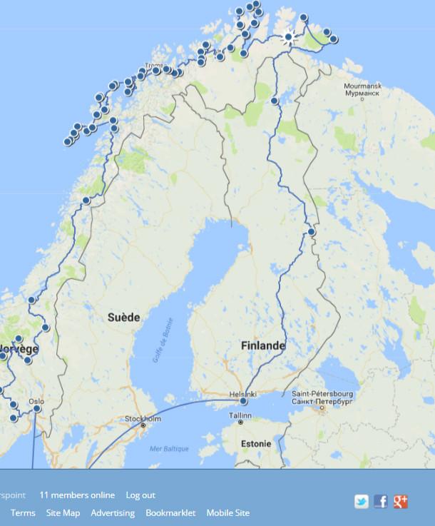 Road-trip : détail de la norvège
