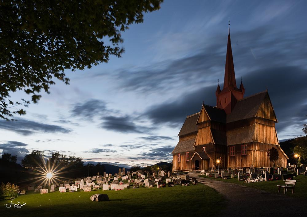 l'église en bois de bout de Ringebuu