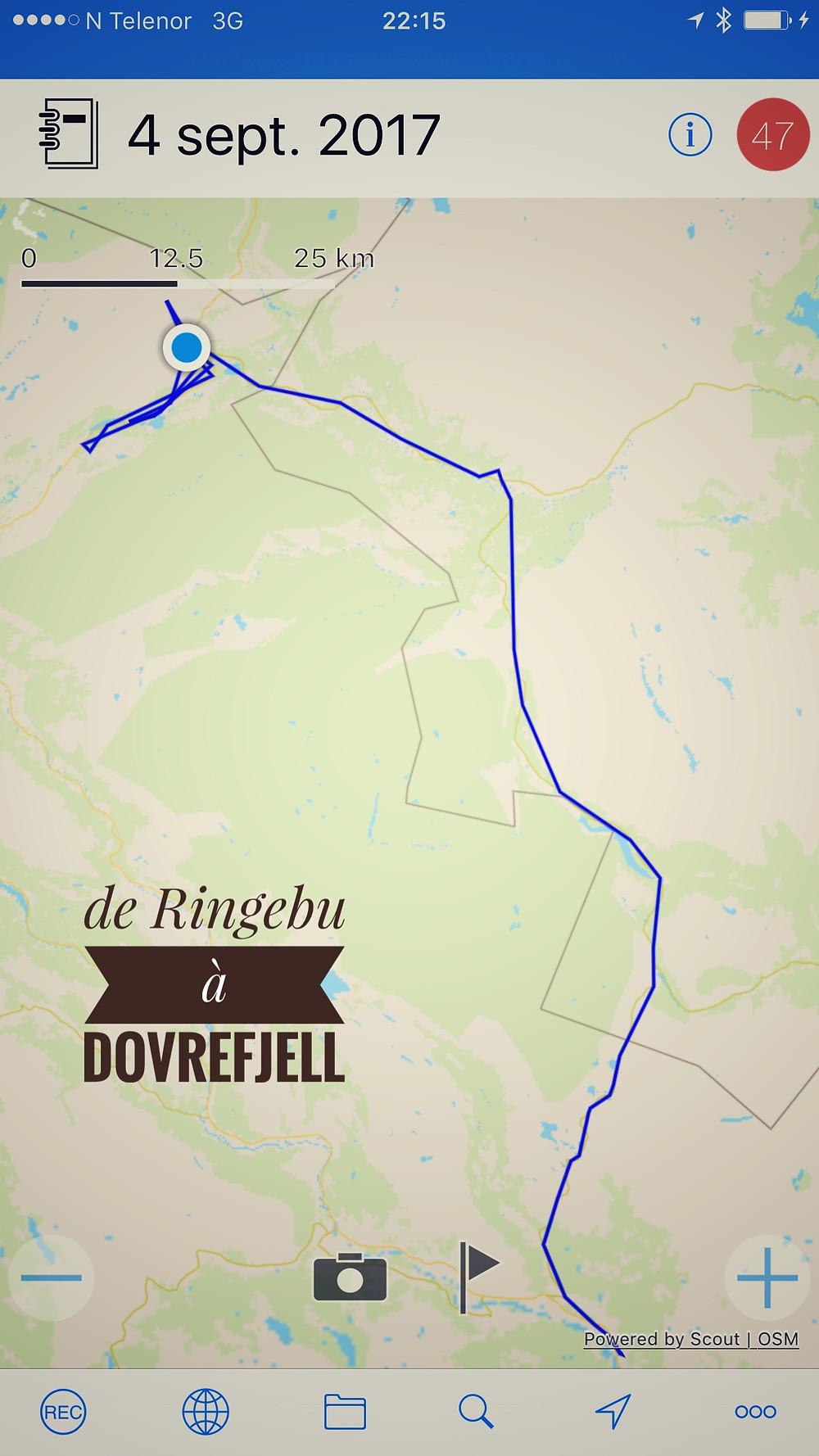 de RIngebu à Dovrefjell