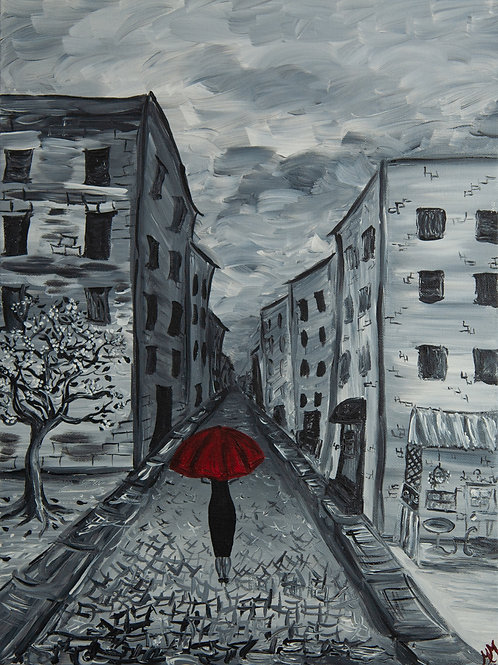 Red Umbrella Collection City Scape