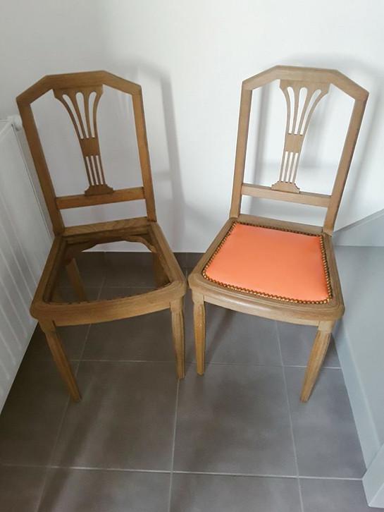 Chaise de style Louis XVI dite Montgolfière