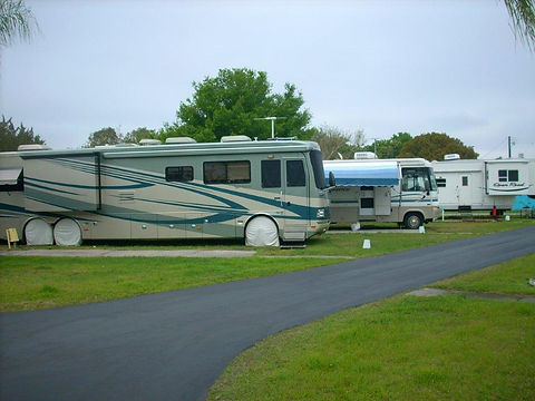 a view of the rv section of the community