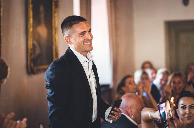 Bröllopsfotograf Leon Jiber fångar Danny Saucedo på bröllop i Stockholm