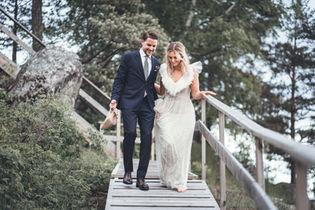 Bröllopsbild i Värmdö av Leon Jiber
