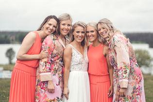 Brudtärnor från bröllop av Leon Jiber