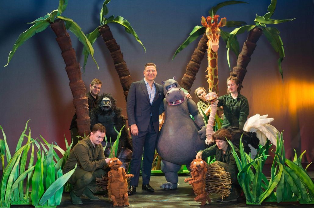 David Walliams and the cast