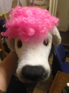 created a wig for the dog that could be easily removed