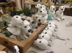 Assembling the puppies